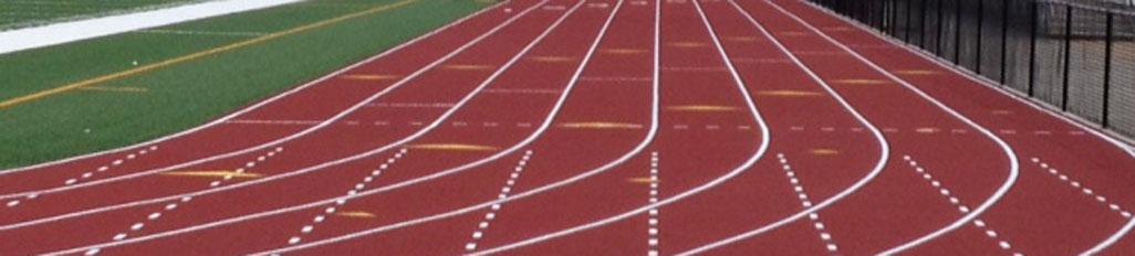 Latex running tracks