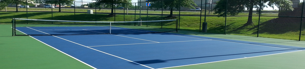 Tennis court resurfacing by McConnell & Associates